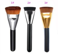 Wholesale Hair Brusher - New Arrivals Pro Makeup Brush Powder Foundation Flat Contour Face Cheeks Brushes Makeup Brusher Flat Head Soft Hair Cosmetic Brushes Tool