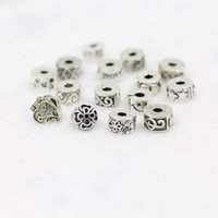 Wholesale DIY bracelet stopper beads ancient silver plated alloy buckle Beads Fit Charm Bracelet Mixed