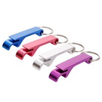 Wholesale Beer Gear - Key Chain Openers Metal Alloy Keychain Ring Beer Can bottle Opener Gear Beverage Kitchen Tools customizable