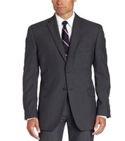 Wholesale Button Textures - Wholesale-Man's texture pinstripe tailored for two separate button suit jacket for men's wedding the groom suit business office suit