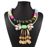 Le nouveau modèle créatif 2016 Fashion Bohemia National Wind de collier multicolore multicolore