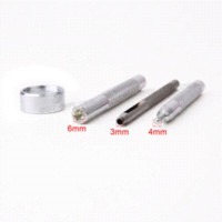 Wholesale Quilt Setting Kit - 10 x 12.5 mm Silver S-Spring Press button Studs & Fixing Tool Set Kit M64255
