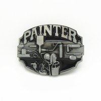 painter decorator - 2016 DISOM New decorator belt buckle painter belt buckles American fashion men belt buckle zinc alloy rings suit for cm width belt