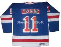 Wholesale Lights Ranger - Wholesale NY Rangers #11 Mark Messier light blue CCM jerseys