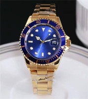 Wholesale Men Luxury Automatic Watch Women - GMT 40MM Solid steel belt AAA quality luxury brand automatic quartz watch date men's fashion leisure sports watches for men and women