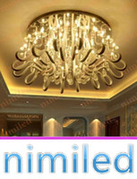 nimi893 3/6/8/12/16-Heads LED plafond Salon Serpentine Bends circulaire Crystal Hall Lighting Chambre Chandelier Pendant Lampes