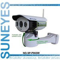 Wholesale Megapixel Ip Camera Sd Card - SunEyes SP-P903W Array LED 960P 1.3 Megapixel HD IP Camera Wireless Wifi Outdoor Pan Tilt by Software with SD TF Card Slot