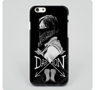 Wholesale Walking Dead Phone Cases - The Walking Dead Norman Reedus Daryl Dixon black hard skin mobile phone cases cover housing for iPhone 4s 5s 5c 6 6 plus