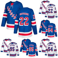 Cheap Wholesale 2018 2017 New Brand Hommes New York Rangers 22 Kevin Shattenkirk 54 Gabriel Fontaine 95 Vinni Lettieri Blue Ice Hockey Jerseys
