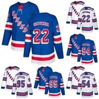 Cheap Wholesale 2018 2017 New Brand Mens New York Rangers 22 Kevin Shattenkirk 54 Gabriel Fontaine 95 Vinni Lettieri Blue Ice Hockey Jerseys
