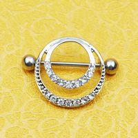 accesorios del buho de las muchachas al por mayor-D0599 (1 color) estilo del anillo del pezón del color del rodio styl del buho anillos del pezón Joyería piercing del cuerpo cuelga los accesorios encanto de la manera 10PCS