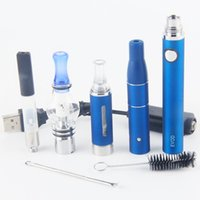 Wholesale Dry Herb Vaporizer Glass - 2017 eVod vaporizer wee tank vape kit dry herb dab pen kit 4 in 1 starter kits wax oil vapes pen wholesale evod starter kit