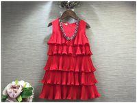 coreano moda vestidos para crianças venda por atacado-Verão Novo 2016 Baby Girl Vestido de Princesa Crianças Sem Mangas Bolo Vestidos Crianças Roupas de Moda Meninas Saia Tutu Estilo Coreano Vestido de Criança