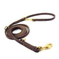 Wholesale Dog Belt Leather - Handmade Cowhide Waist Belt Dog Lead Leash Soft Durable Leather Dog Walking Lead Leash