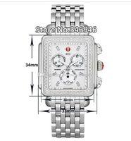 fdaf25b10577 Relojes de lujo Pulsera de acero inoxidable Michele Deco Diamond Cronógrafo    Día   Fecha Totalmente Función de reloj de cuarzo Relojes de vestir de  mujer ...