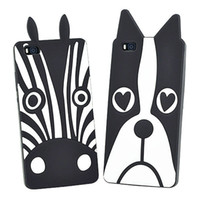 "Wholesale Cover Mobile Zebra - 3D Cartoon Dogs Zebra Silicon Soft Back Cover For Huawei P8 Lite Phone Case For Huawei P8 Lite 5.0"" Mobile Phone Capa para coque"