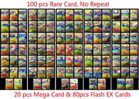 mega kid großhandel-100 teile / los EX Mega Shine Englisch EX Karte 20 Mega + 80 Flash Keine Wiederholung Collectiv Kinder Weihnachten Spielzeug