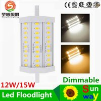 Wholesale Decoration For Hotel Wall - Outdoor Decoration 30pcs 5630SMD 118mm LED Corn Lamp Bulb R7S 12W 15W Light Floodlight J118 for billboard garden hotel parking lot