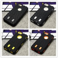 Wholesale Silicone Cases For Iphone China - China Wholesale High Quality PC+Silicone Combo Tire Armor Case for Samsung for iphone 5 6 Cell Phone Cover Case