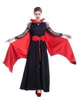 Wholesale sexy bat women costume for sale - Gothic Sexy Costume Halloween Dress Costume Sexy Witch Vampire Women Masquerade Party Halloween Cosplay Costume queen bat PS019