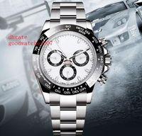 Wholesale digital hands watch - Top Quality 40mm Men's Automatic Watches Ceramic Bezel 116500 NO Chronograph Movement Stainless steel bracelet Mens Sport Wrist Watches
