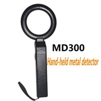 Wholesale Portable Hand Scanner - Wholesale MD300 Circle Type Portable Hand-held Metal Detectors body Scanner with Vibration for Safeguard Security Instruments ann