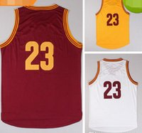 Wholesale Men Mix Color Shirt - Free Shipping #23 Jersey Basketball Jerseys Shirt with all embroidery logo stitched logos White Red Yellow alll color all type mixed order