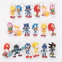 Wholesale Sonic Hedgehog Wholesale - 6pc set Sonic the hedgehog Boom Rare Shadow the Hedgehog Miles Prower Knuckles the Echidna pvc action figure christmas gift