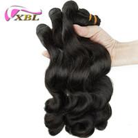 Wholesale Guangzhou Virgin Hair - Guangzhou Top Quality Factory Price 4 Pieces Free Shipping Loose Wave Human Hair Weaving Loose Wave Human Hair