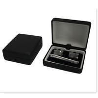 Wholesale Tie Clip Cufflinks Box - MEN'S GIFT CUFFLINKS & TIE CLIP BOX JEWELRY BOX HIGH QUALITY CTB101