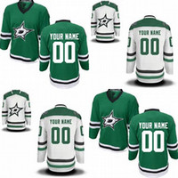 Wholesale Best Sewing - Hot Sale Customized Dallas Star New Style Green White Ice Hockey Jerseys 2014 Sewing On Best Jerseys Customized Your Own Name Number Jerse