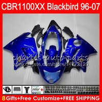 Wholesale Honda Blackbird - Body For HONDA gloss blue Blackbird CBR1100 XX CBR1100XX 96 97 98 99 00 01 81HM4 CBR 1100 XX 1100XX 1996 1997 1998 1999 2000 2001 Fairing