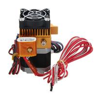 3d yazıcı üreticisi botu toptan satış-Freeshipping 12/24 V Fan Makerbot 3D Yazıcı MK8 Tek Ekstruder MK8 Ekstruder 12 V / 24 V Isıtıcı 100 K NTC termistör, 1.75mm Makerbot / Reprap