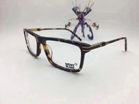 Wholesale Finish Designer - MB8032 Italian Brand Designer Designed Eyeglasses Frame Glasses Frame Male Matching Finished Flat Light Myopic Glasses Frame