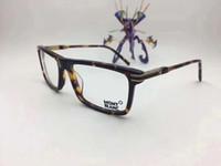 aydınlatma toptan satış-MB8032 İtalyan Marka Tasarımcısı Tasarlanmış Gözlük Çerçeve Gözlük Çerçeve Erkek Eşleştirme Bitmiş Düz Işık Miyop Gözlük Çerçeve Eşleştirme