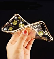 Wholesale 6g tpu clear case for sale - Secret Garden Electroplated Transparent Soft Tpu clear Case with Diamond Flowers Butterfly for Iphone G se g plus Bling back Cover