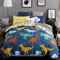 Wholesale Dinosaur Bedding Queen - Wholesale- Cartoon Style Bedding Set 2017 New 3 4pcs Quilt Cover Children Dinosaurs Duvet Cover Queen Twin King Pillow Case MF322Z