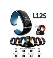 Wholesale l12s smart watch resale online - Smart Wristband L12S LED Bluetooth Bracelet Wrist Watch Design for IOS iPhone Samsung Android Phones Wearable Electronic