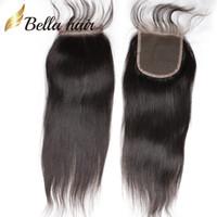 fermeture malaise droite en dentelle droite achat en gros de-100% malaisienne Vierge Cheveux Fermeture 8