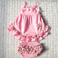 Wholesale Swing Back Baby - Wholesale- Summer style Sweet princess Sleeveless Baby girls Swing back Top set 4Color Patchwork baby girls clothing set