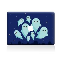 Wholesale 15 Inch Laptop Skin Stickers - Cute Halloween Ghost Vinyl Decal Funny Sticker Full Skin Laptop Decoration for Apple Macbook 11 12 13 15 inch