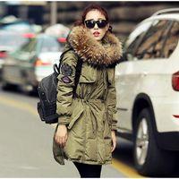 Wholesale Korean Button Down - Korean Style Parka Coats for Women Lady Winter Jackets Hooded Down Parkas X-Long 5 Colors Size S-2XL#20161024-3 Drop Shipping