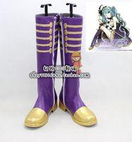 Wholesale Hatsune Miku Shoes - Wholesale-vocaloid Hatsune Miku 25 Imagination Cosplay Boots shoes #cos0240 Halloween shoes