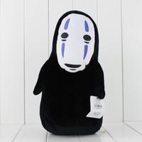 Wholesale Anime Miyazaki Hayao - 32cm Anime Cartoon Miyazaki Hayao Spirited Away No Face Plush Soft Stuffed Doll Toy for kids gift toy free shipping EMS