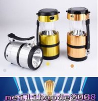 Wholesale Bivouac Lantern Led Light Lamp - 2016 new Outdoor lighting camping Solar energy Rechargeable Camping Lantern Bivouac Hiking Camping Light LED Lamp 3 color MYY