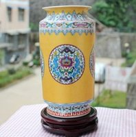 Wholesale Enamel Ceramic Vase - Shipping of Jingdezhen ceramics, classical color pen flower vase enamel bottle Home Furnishing small ornaments decorations study