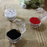 Wholesale Earring Dispaly - Wholesale Acrylic Ring Box Gift Package Display Transparent Earring Dispaly Box Plastic Boxes Jewelry Box Free Shipping