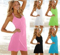Wholesale Pleated Sleeve Blouse - 100pcs lot newest brand sexy swimwear lovely beach dress New Women Beach Dress Summer Dress Outside The Bikini Blouse