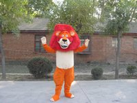 Mascot Costumes L Sci Fi & Fancy Hot high quality Real Pictures Deluxe lion Mascot Costume Character Costume Adult Size Christmas Clothing factory direct free ship