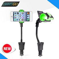 soporte para coche iphone usb al por mayor-Soporte universal para teléfono para automóvil con cargador USB Soporte para iPhone 5 6 7 8 X Samsung Galaxy S3 S5 Nexus 5 GPS PDA 3.5-6.3